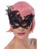 Maska karnawałowa koronkowa czarna II