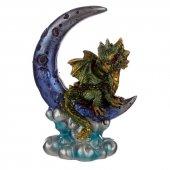 Zielony Smok na Księżycu - figurka fantasy