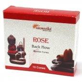 Róża - kadzidełka stożkowe typu backflow op. 10 szt