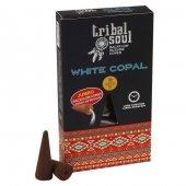 Biały Kopal - kadzidełka Tribal Soul stożki backflow op. 12 szt