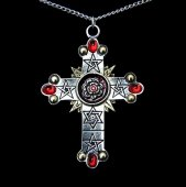 naszyjnik Różany Krzyż, seria: Forbidden - talizman: Magia Wysoka