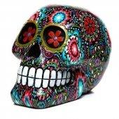 Meksykańska Czaszka w Kwiaty Sugar Skull - figurka