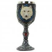 Wilczy Kielich - puchar dekoracyjny z białym wilkiem