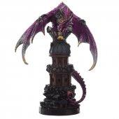 Smok Pilnujący Wieży - figurka fantasy 29cm