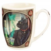 Kot i Absyntowa Wróżka - porcelanowy kubek z nadrukiem projekt: Lisa Parker