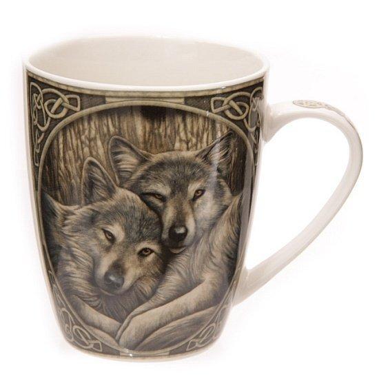 magiczny kubek z wilkami - Dwa Wilki, projekt: Lisa Parker