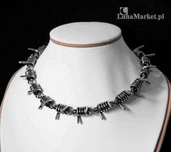 Drut Kolczasty max - naszyjnik w kształcie drutu kolczastego