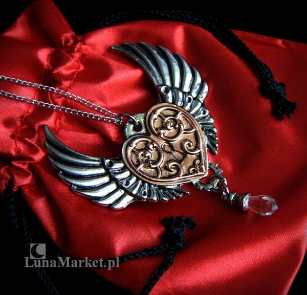 Serce Walkirii seria Engineerium od Anne Stokes - biżuteria w stylu steampunk