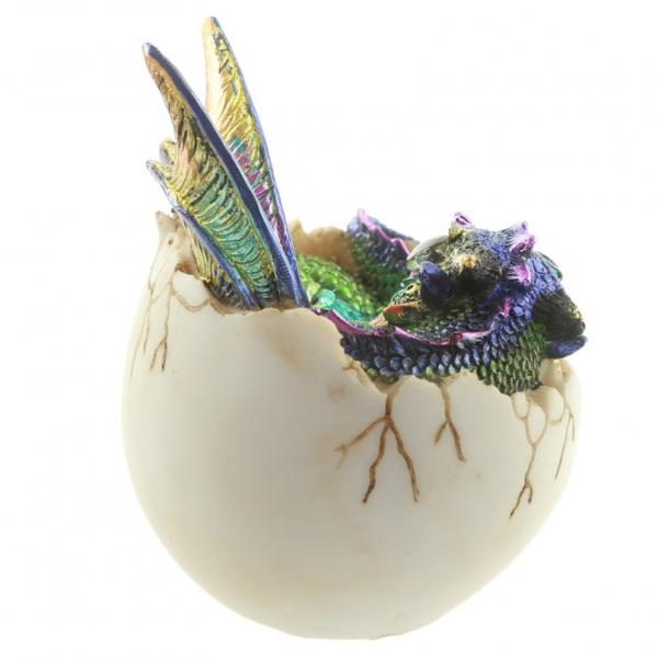 figurki i prezenty w stylu fantasy - figurka Smocze Jajo i Kolorowe Smoczątko