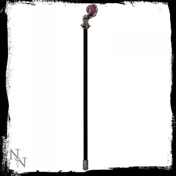 laska z kulką z uchwytem w kształcie kulki z rekojeścią z kościstą łapą gotycka steampunk