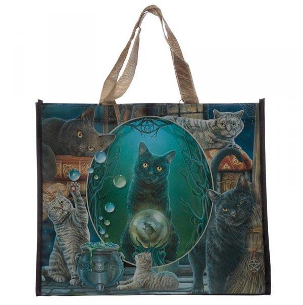 Magiczne Koty torebka na prezenty, torba zakupowa z kotami