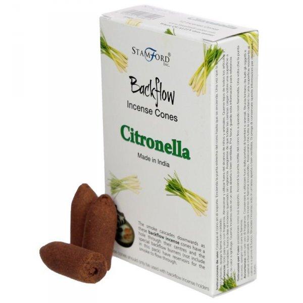 kadzidełka stożkowe typu backflow - zapach Citronella