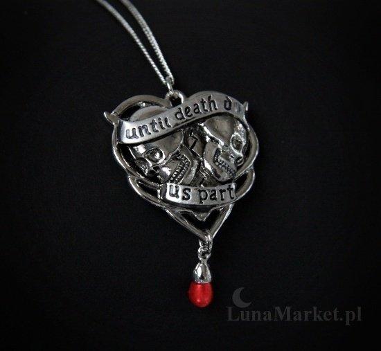mroczny naszyjnik dla gotyckiej damy gotycka biżuteria