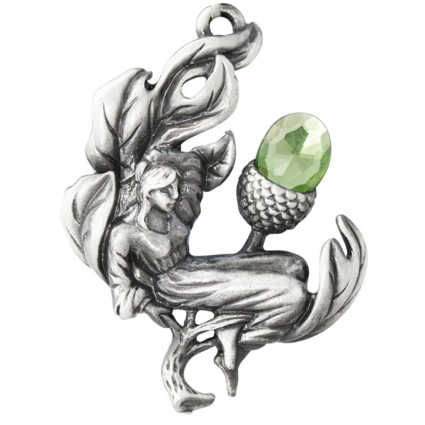 naszyjnik Dębowa Wróżka - wisiorek z elfem, Talizman: Płodność i Nowe Początki