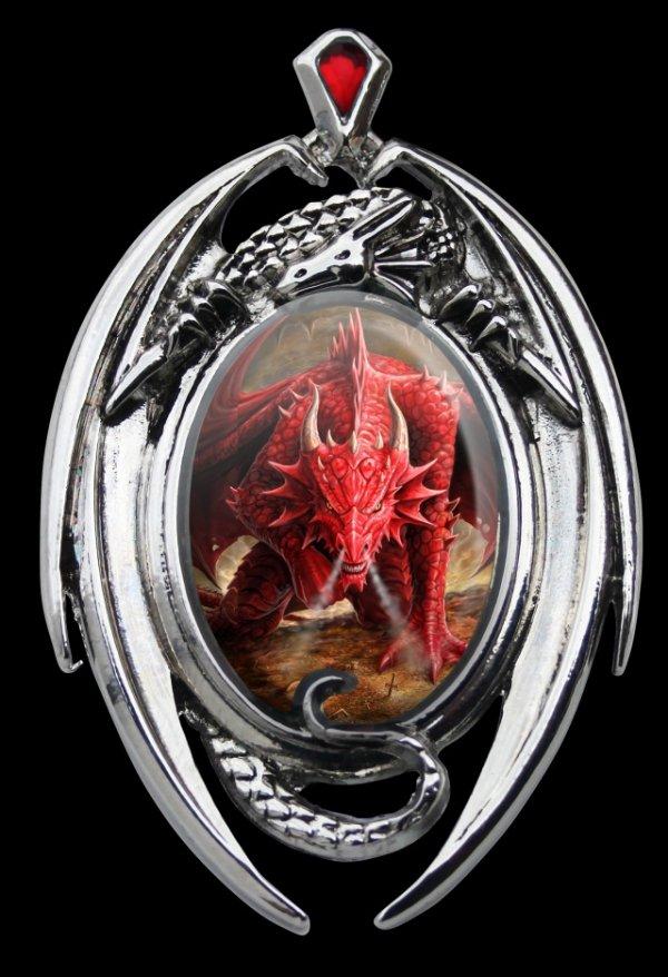 gotycka magiczna biżuteria: kamea ze smokiem - Enchanted Cameos Anne Stokes Dragon Lair