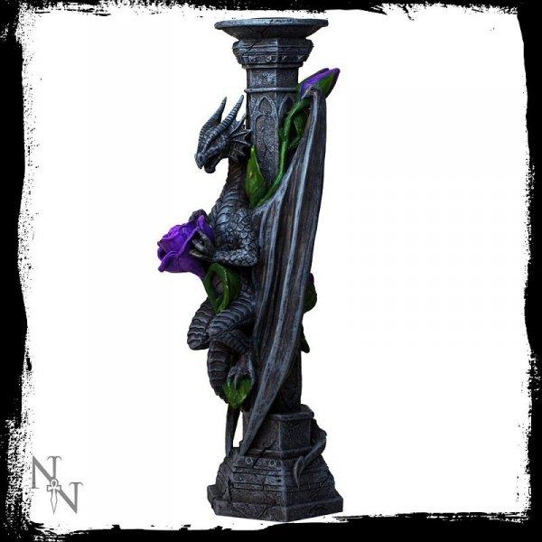 gotycki świecznik ze smokiem Anne Stokes Dragon Beauty w kształcie smoka prezenty
