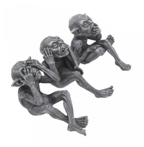 """Trzy Mądre Gobliny - zestaw figurek """"Nic nie widzę, nic nie słyszę, nic nie mówię"""""""