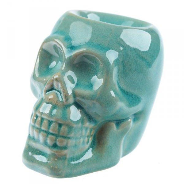 mały kominek zapachowy Czaszka - ceramiczny podgrzewacz do olejków aromatycznych