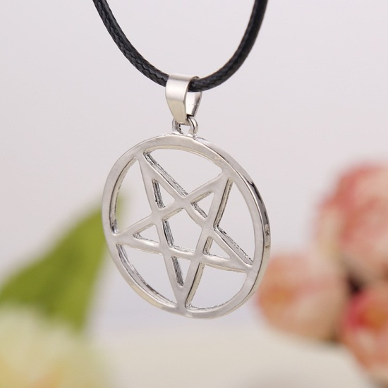 wisiorek z pentagramem - naszyjnik Odwrócony Pentagram
