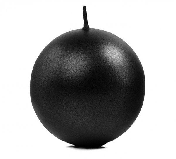 czarna świeczka kulka - świeca Kula w kolorze czarnym, wysokość 8 cm