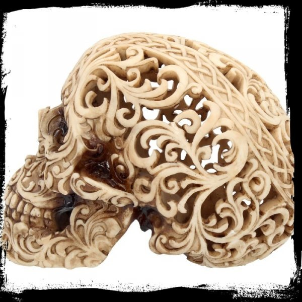 """""""Celtycka Dekadencja"""" - ażurowa czaszka figurka dekoracyjna"""