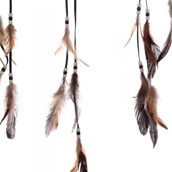 """indiański łapacz snów z obrazkiem Lisy Parker """"Smok i Wilk"""""""