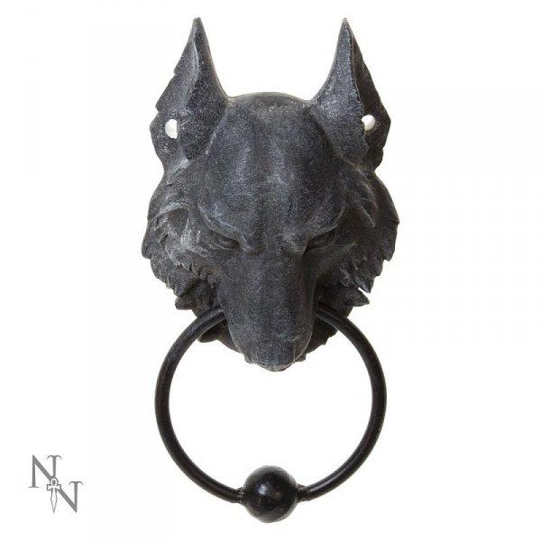 kołatka do drzwi z wilkiem wilk wolf asatru gadżety z wilkami prezenty