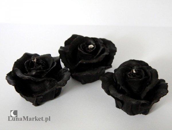 świece Czarne Róże  w koszyczku - świeczki woskowe, naturalny wosk pszczeli 100%