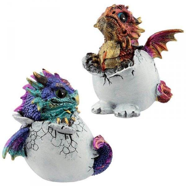 małe smoki wykluwające się z jaja - Smocze Jajo figurka dekoracyjna