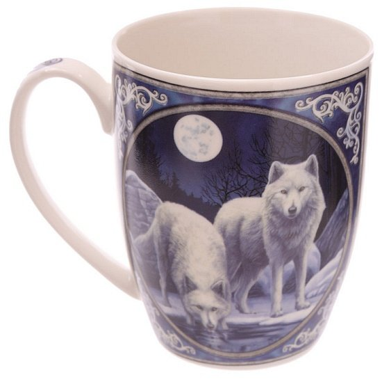 Wilki Zimowi Wojownicy - kubeczki z wilkami - porcelanowy kubek z nadrukiem od Lisy Parker