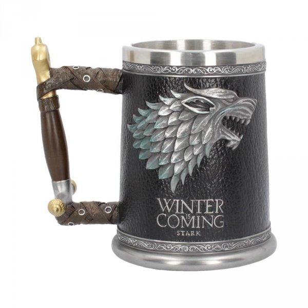 """Winter is Coming """"Gra o Tron"""" """"Game of Thrones"""" kielich Starków z wilkorem"""