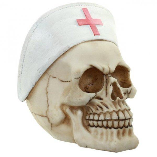 gadżety z czaszkami - czaszka pielęganiarka