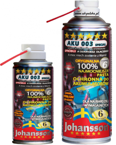 Pasta do akumulatorów JOHANSSON AKU 003 SPECIAL spray 400ml