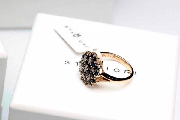 Pierścionek Złoto Diament PZD1600