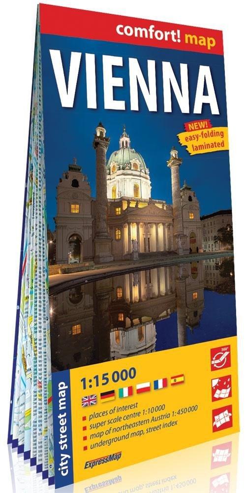 Comfort!map Vienna (Wiedeń) 1:15 000 plan w.2019