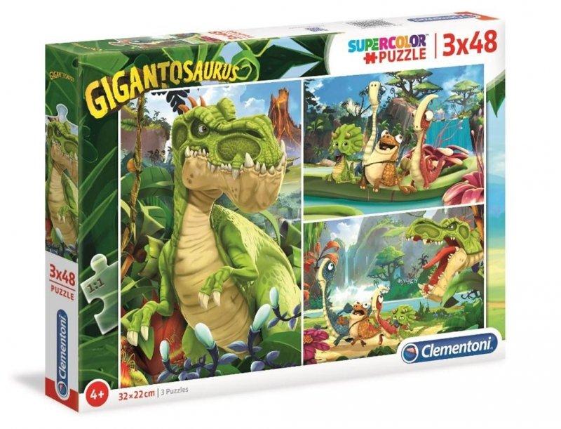 Puzzle 3x48 Super Kolor Gigantosaurus