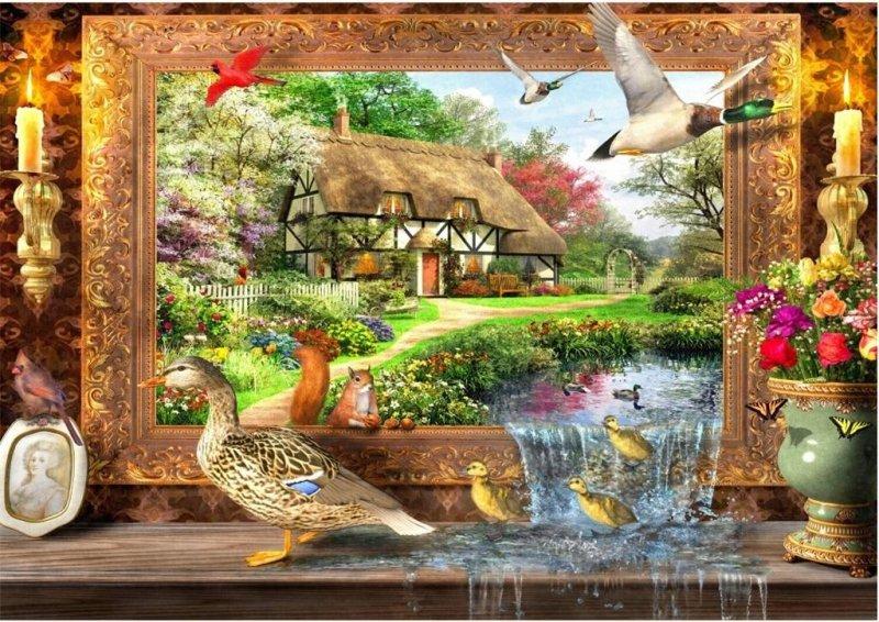 Puzzle 1500 Wiejskie życie Dominic Davison