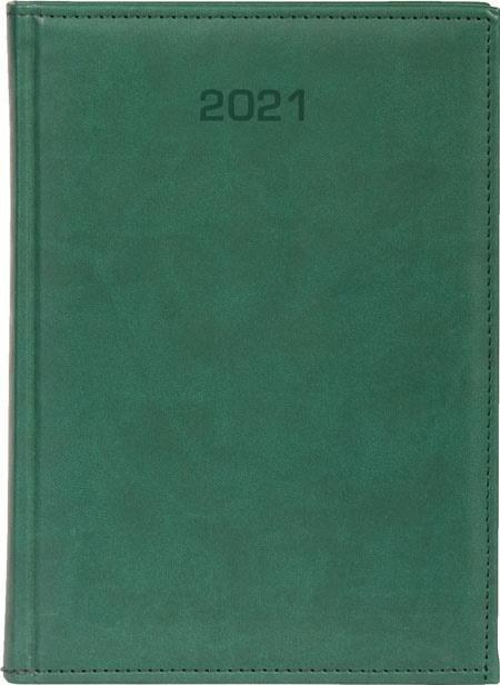 Kalendarz 2021 Dzienny A5 Vivella zielony