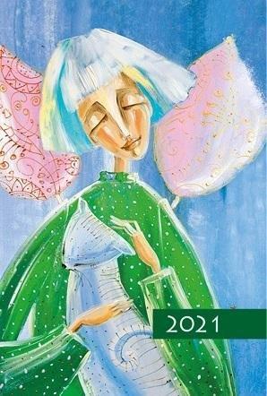 Terminarz 2021 B7 Mały Kolorowy Anioł