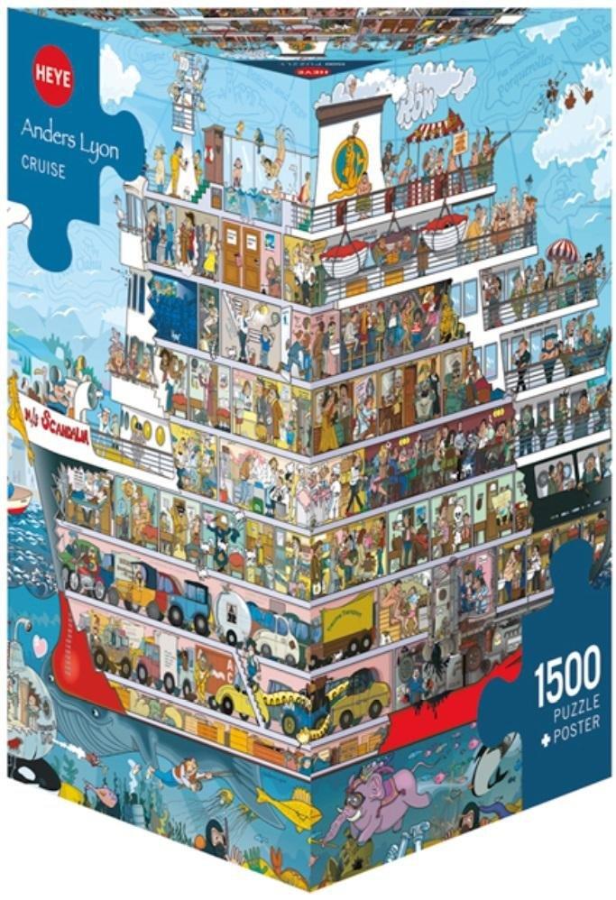 Puzzle 1500 Statek (Puzzle+plakat), Lyon