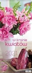 Kalendarz 2021 Ścienny W krainie kwiatów
