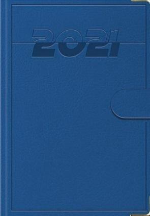 Terminarz 2021 B7 Lux z zapinką niebieski