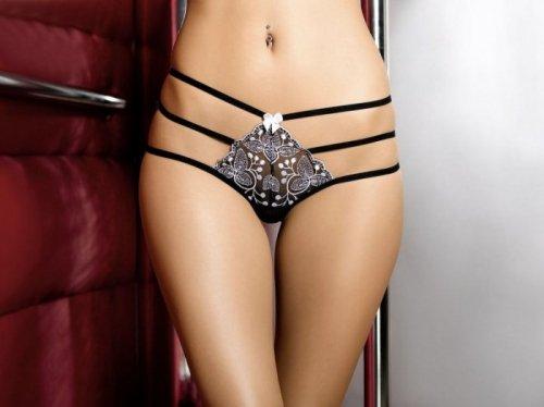 Bielizna-Chantal string black M (czarne stringi)