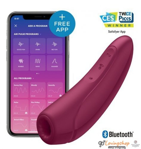 Satisfyer Curvy 1+ Rose Red incl. Bluetooth and App