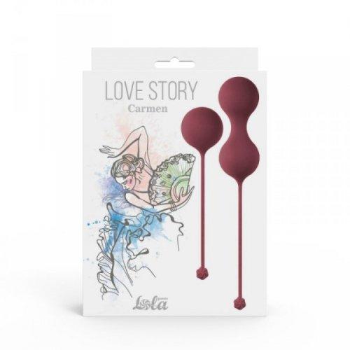 Vaginal balls set Love Story Carmen Wine Red