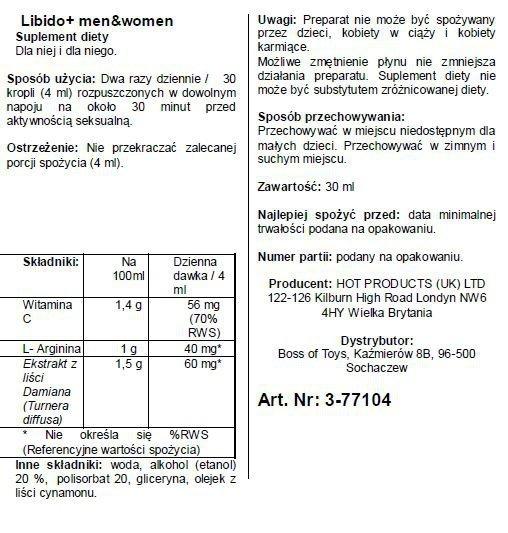 Supl.diety-Libido + (m+w) 30ml