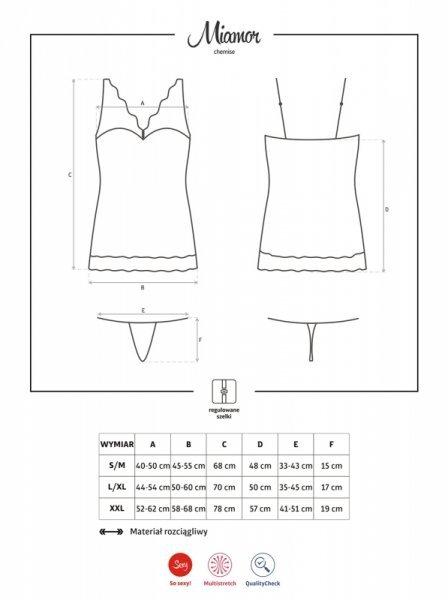Bielizna-Miamor koszulka i stringi L/XL