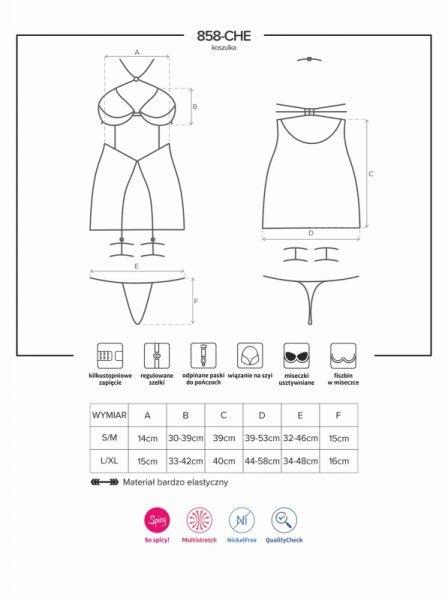 Bielizna-858-CHE-1 koszulka i stringi L/XL
