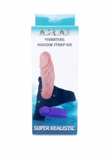 Strap-on proteza penisa z wibracjami hollow Adrian