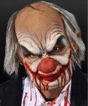 Maska lateksowa z peruką - Kanibal Clown